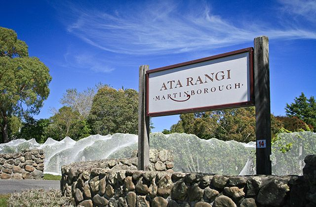 Entrada da Ata Rangi, em Martinborough