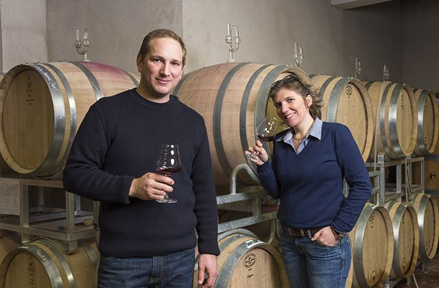 Os irmãos Jean-Paul e Marie Zusslin, do Domaine Valentin Zusslin